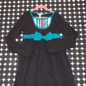 Matilda Jane Dark Blue/Black Teal Tuxedo Dress 8